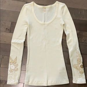 Free People Heart on Your Sleeve thermal, Ivory